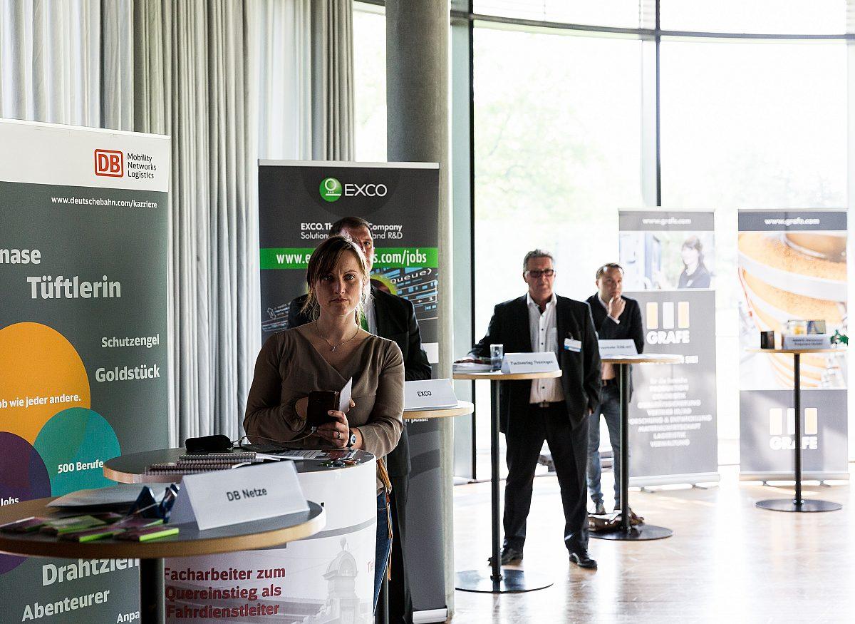 Job-Speeddating_1-zu-1-Gespräch Copyright: LEG Thüringen/Thomas Abé