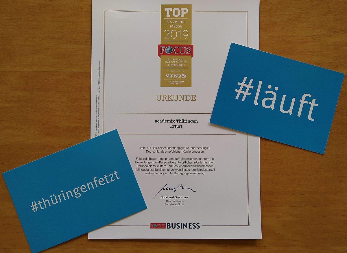 Auszeichnung academix News Copyright: LEG Thüringen/ThAFF