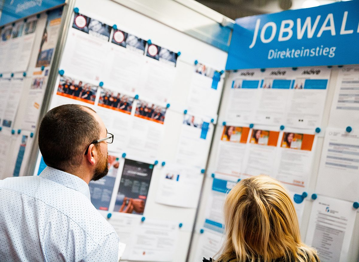 Jobmesse Jobwall Copyright: LEG Thüringen/Thomas Abe