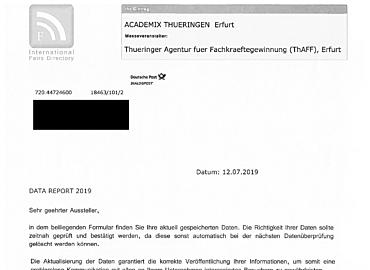 Gefälschtes ThAFF-Schreiben
