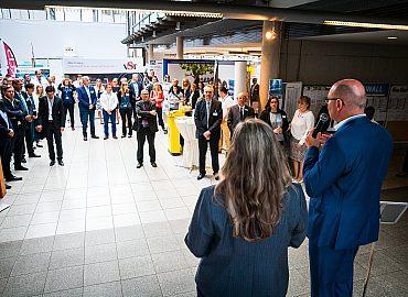 Jobmesse comeback Begrüßung Aussteller